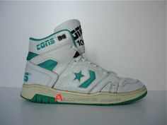 1991 VINTAGE CONVERSE CONS 100 BASKETBALL HI SHOES TOPS BOOTS 90`S ERS ERX 80`S | eBay