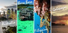 Viaggio di nozze da sogno: quattro mete da sogno per il soggiorno più romantico di sempre. Alla scoperta di Bora Bora, Australia, Filippine e Galapagos. #SoMagazine #SoTravel #SoMag #SodiniBijoux #Sodini