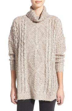 Cotton Emporium Cable Knit Turtleneck Sweater sz xs