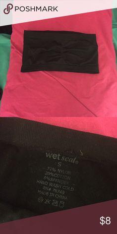 Black bandeau Plain black bandeau. Lightly used. Wet Seal Intimates & Sleepwear Bandeaus