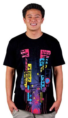 When the Sun sets in the City of Sunrise (remake) T-shirt by rejagalu from Design By Humans. Neon signs light the way. Pinks, blues and yellows explode onto a dark T-shirt. Awesome graphic art shows a Japanese street lit up with a neon glow. When The Sun Sets on the City of Sunrise you know it's time to rock this awesome bright tee.  for $20