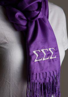 Tri Sigma pashmina scarf <3 Sigma Sigma Sigma sorority swag