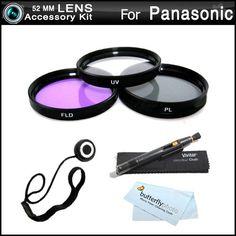 52mm Filter Kit For Panasonic Lumix DMC-FZ150K, DMC-FZ150, DMC-FZ200, DMC-FZ200K, DMC-G5, DMC-G5K, DMC-G5KS Digital Camera Includes 52mm Multi-Coated 3 PC Filter Kit (UV, CPL, FLD) + LensPen Cleaning Kit + Lens Cap Keeper + Microfiber Cleaning Cloth