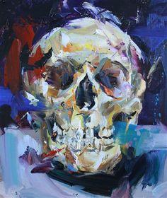Painting by Paul Wright Claude Monet, Vincent Van Gogh, Painting Inspiration, Art Inspo, Paul Wright, Skull Painting, A Level Art, Expressive Art, Cg Art
