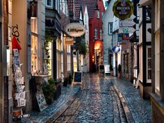 Bremen, Germany beautiful-places-to-visit Places Around The World, Around The Worlds, Beautiful World, Beautiful Places, Bremen Germany, Stone Road, Germany Travel, Dream Vacations, Old Town