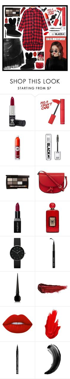 """RED: Check BLACK: Check"" by beanpod ❤ liked on Polyvore featuring StyleNanda, Manic Panic NYC, peripera, KC Jagger, Smashbox, Charlotte Olympia, Newgate, Bobbi Brown Cosmetics, Christian Louboutin and By Terry"