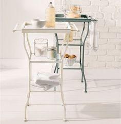 Storage table for half bath