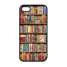 Bookshelf - Black iphone 5 case
