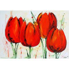 tulpen schilderen met acryl - Google zoeken