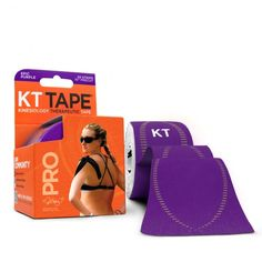 KT Tape Pro - 20 Precut Strips - Epic Purple: the support that will endure your toughest workout