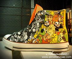 Hand Painted Converse Shoes  AnnatarCustomizer