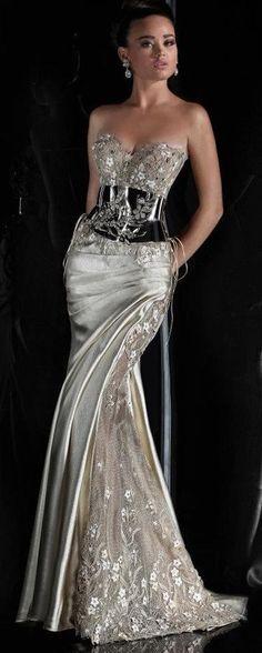 Rami Salamoun fabulous silver gown | Just a pretty dress