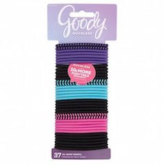 Goody® Ouchless™ 37 Count Elastics  These are the best hair ties ever and we feel like we constantly lose them so keep them in your bag always!