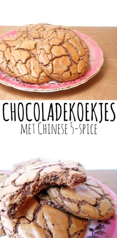 Chocolate cookies with Chinese Chinese 5 Spice, Desert Recipes, Chocolate Cookies, Cookie Bars, Cake Cookies, Cereal, Deserts, Spices, Candy