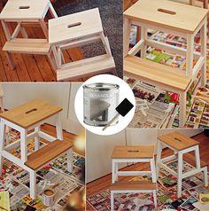 Personnalisez votre tabouret IKEA BEKVÄM #DIY #IKEADIY #IKEAxTheLifeFactory