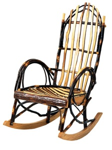 favorite type of amish rocking chair the wildwood all hickory rocker ...