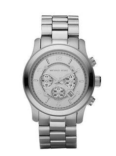 Micheal Kohrs oversized silver runway watch