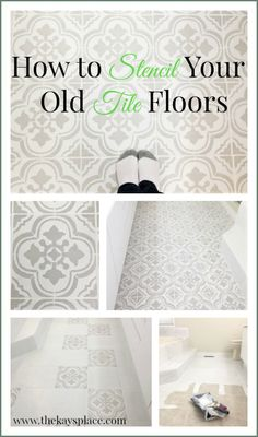 Kitchen Floor Stick On Tiles . Kitchen Floor Stick On Tiles . How I Painted and Stenciled My Old Outdated Tile Floor Porch Tile, Porch Paint, Porch Flooring, Vinyl Flooring, Kitchen Flooring, Tile Flooring, Concrete Porch, Plywood Floors, Concrete Kitchen