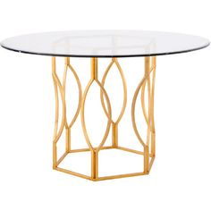 Ambrose Dining Table in Antique Gold  at Joss and Main