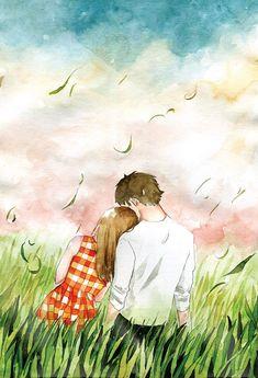 "// "" this old house "" idea Anime Love Couple, Couple Cartoon, Couple Art, Family Illustration, Illustration Art, Manga Anime, Anime Art, Human Art, Love Images"