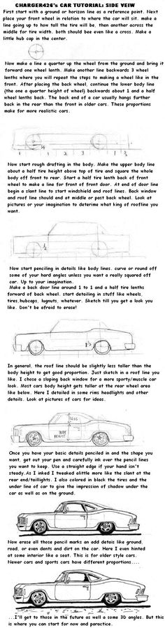 Car drawing Tutorial part one by Charger426.deviantart.com on @deviantART