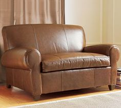 Manhattan Leather Chair-and-a-Half   Pottery Barn