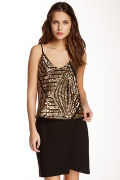 Sequin Front Tank (Juniors) by Soprano on @nordstrom_rack