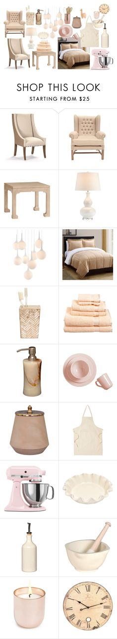 """""""Nude Living"""" by serinde ❤ liked on Polyvore featuring interior, interiors, interior design, home, home decor, interior decorating, Old Dutch, Redford House, Zuo and VCNY"""