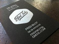 Carte Visite De Noire Papier Noir Couleur Argent