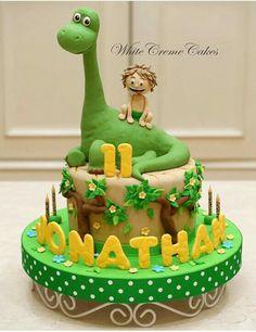 Salmon and mozzarella cake - Clean Eating Snacks Dinasour Birthday Cake, Dinasour Cake, Baby Birthday Cakes, Dinosaur Birthday, The Good Dinosaur Cake, Dino Cake, Bolo Fack, Disney Cakes, Savoury Cake