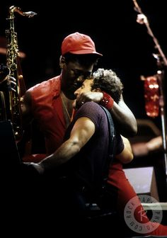 Clarence Clemons & Bruce Springsteen by Richard E. Aaron
