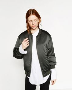 GLOSSY OVERSIZED BOMBER JACKET-SPECIAL PRICES-WOMAN | ZARA United States