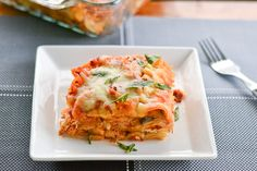 In this slow cooker eggplant lasagna recipe, all the ingredients such as lasagna noodles, eggplant and cheeses are added into the crock pot. So easy!