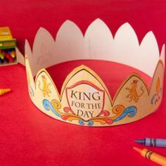 Make Dad feel like a king with this Father's Day craft #fathersday #kingforaday #dad