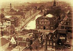 Schiedam, zicht op de Koornbeurs, Lange Haven en de Dam