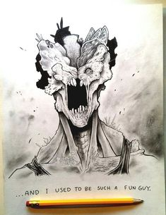 I made some fan art for The Last of Us, a Play S. The Last of A Clicker's Sentence Go Game, Game Art, Tattoo Sketches, Art Sketches, The Lest Of Us, Fnaf Drawings, Pencil Drawings, Photo Wall Collage, Life Is Strange