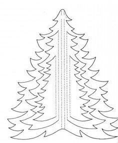 Трафареты, вытынанки, киригами, схемы и шаблоны - Елочки - новогодние трафареты