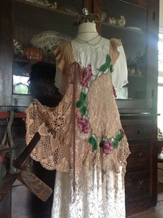 Luv Lucy Lucy's Grape Stompin  Crochet Tunic Dress. $150.00, via Etsy.