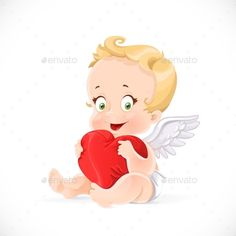 ◲ [Nulled]◕ Cupid Sitting And Hugging A Soft Red Heart Pillow Aiming Amur Arrow Baby Boy Cupid Hug Pillow, Heart Pillow, Red Pillows, Soft Pillows, Valentines Day Pictures, Angel Images, Baby Boy, Elephant Art, Arrow