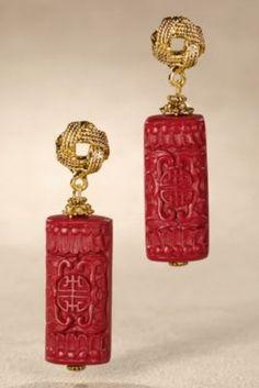 Shogun Earrings from Soft Surroundings Love Cinnabar