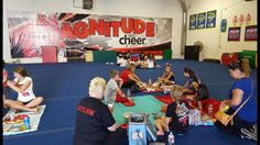 http://www.MagnitudeCheer.com (818) 280-8044 Magnitude Cheer athletes give back to the community through a month-long Teddy Bear Drive and delivery to Valley Presbyterina Hospital.  Tumbling classes, cheer classes, All-Star teams, private lessons, birthday parties, and more available.  Call today to schedule a gym tour for your family!  Magnitude Cheer, 8811 Amigo Ave., Northridge, CA 91324