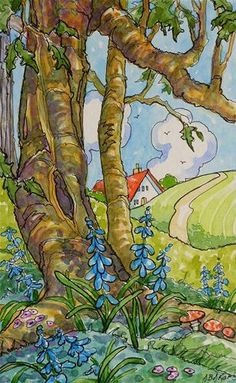 """The Bluebell Wood Storybook Cottage Series""    by  Alida Akers"