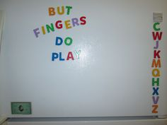 I bought some magnet letters for my fridge. Everyday I try to make a new combination of words.