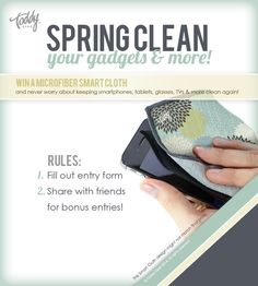 Spring Cleaning Contest- Win a Premium Microfiber Cleaning Cloth!