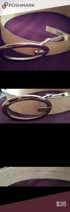 Guess Pearl and Silver beaded belt Excellent condition w Tag still on GUESS Accessories Belts