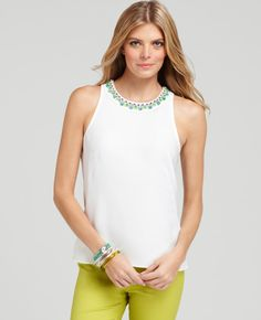 Ann Taylor - AT New Arrivals - Jeweled Garland Shell