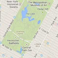 Interactive Map of Attractions in Central Park