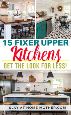 15 Fixer Upper Kitchen Looks For Less - Slay At Home Mother Glass Kitchen, Wooden Kitchen, Kitchen Decor, Kitchen Design, Kitchen Ideas, Pantry Ideas, Cheap Home Decor, Diy Home Decor, Coastal Decor