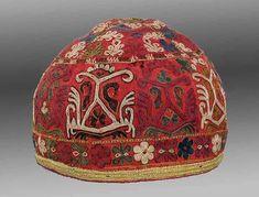Turkmen Embroidered Hat, Chodor Tribe, Khiva Region, 19th c.