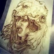 Resultado de imagem para wolf woman headdress